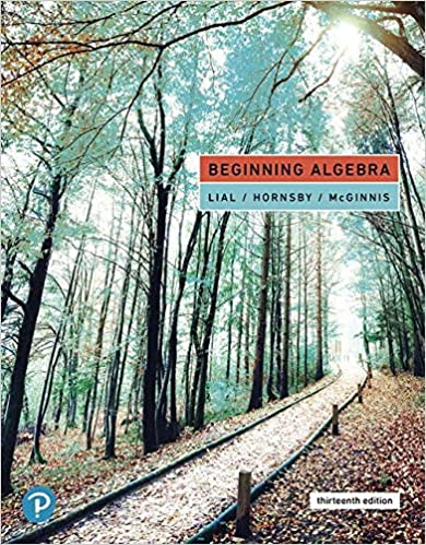 Beginning Algebra (13th Edition) [2020] - Original PDF
